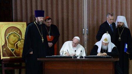 Папа и Патриарх встреча в Гаване