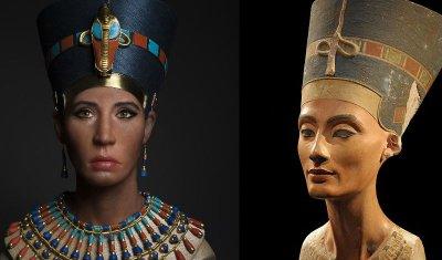 Воссоздали лицо царицы Нефертити и оно не очень похоже на знаменитый бюст