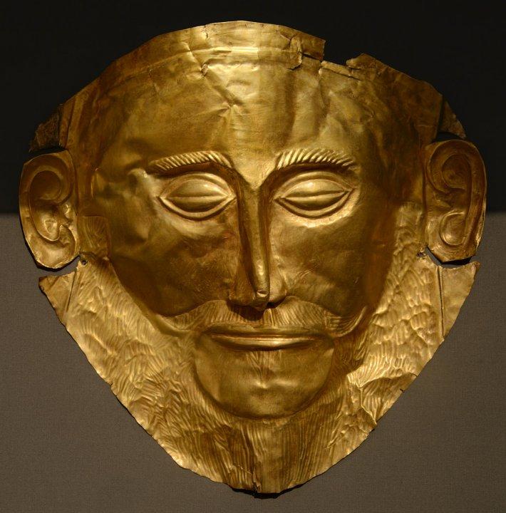 Маска Агамемнона — царя, захватившего Трою