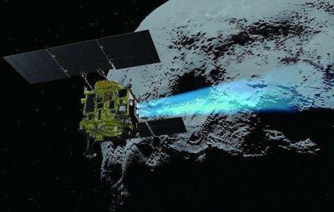 Межпланетная станция Hayabusa 2 отобрала образец грунта с астероида Рюгу