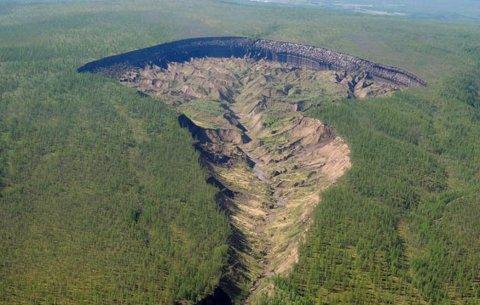Батагайский кратер — музей истории нашей планеты