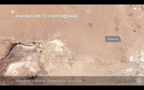 Землетрясение в Калифорнии создало разлом, который виден из космоса